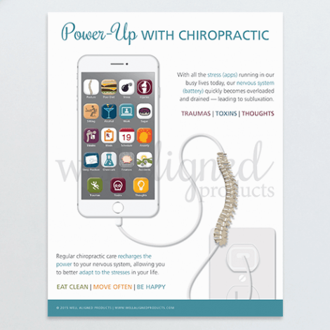 Chiropractic education form handout recharge spine