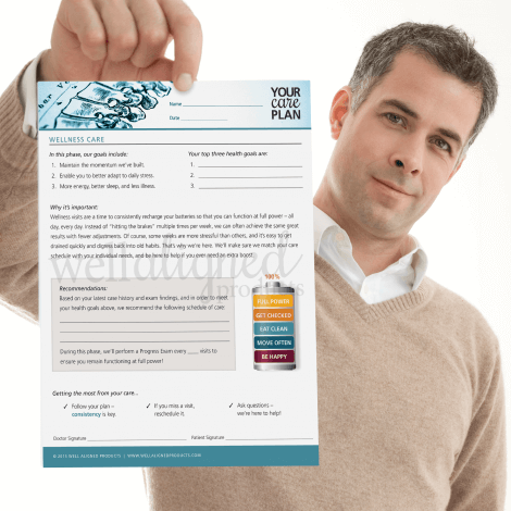 Wellness chiropractic care handout education recommendations