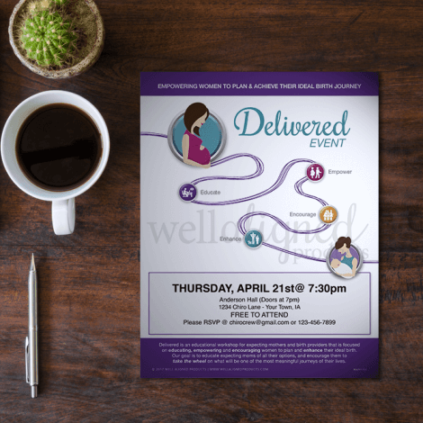 Chiropractic delivered pregnancy women event education empower encourage enhance