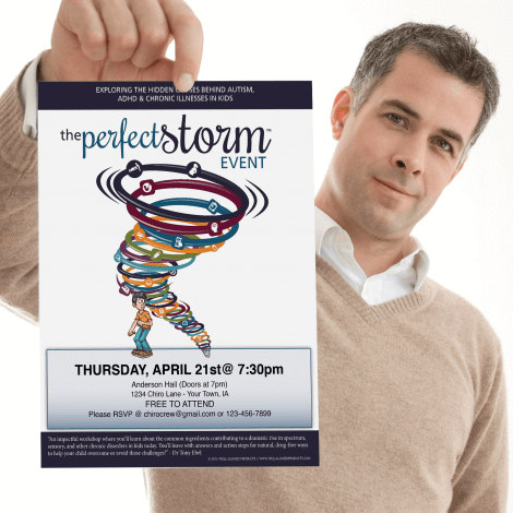 The perfect storm handout trauma chiropractic chronic illness autism adhd colic