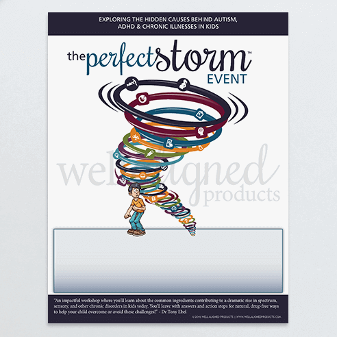 The perfect storm handout trauma chiropractic chronic illness autism adhd colic