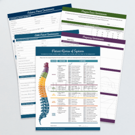 Chiropractic new patient fillable forms spine bundle