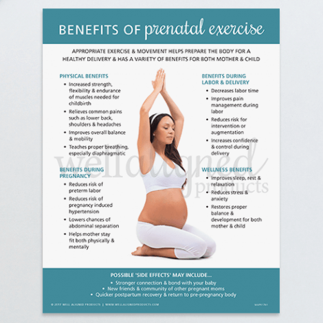 Chiropractic prenatal exercise pregnancy education handout yoga labor delivery wellness
