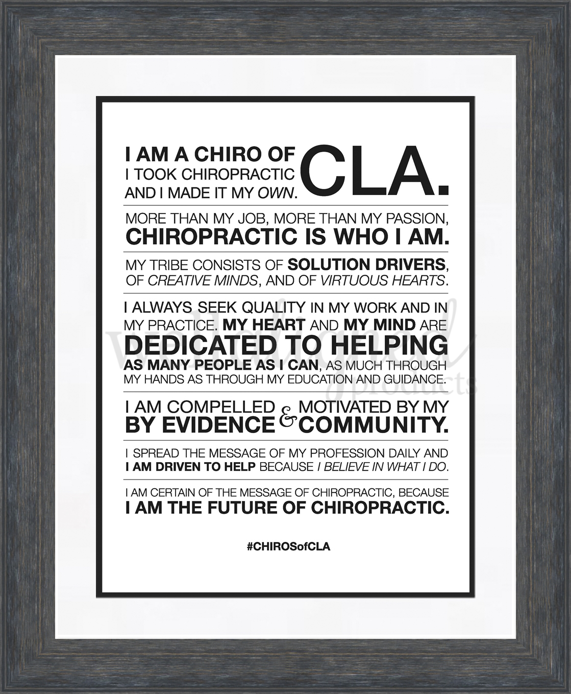 CHIROSofCLA Manifesto Poster (12x16) - Well Aligned Products